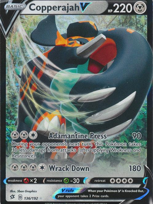 Copperajah V 136/192 - Half Art - SWSH Rebel Clash - Pokemon