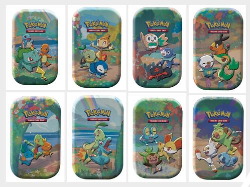 Pokemon Celebrations Mini Tin Art Set Bundle (Set of 8 Tins)