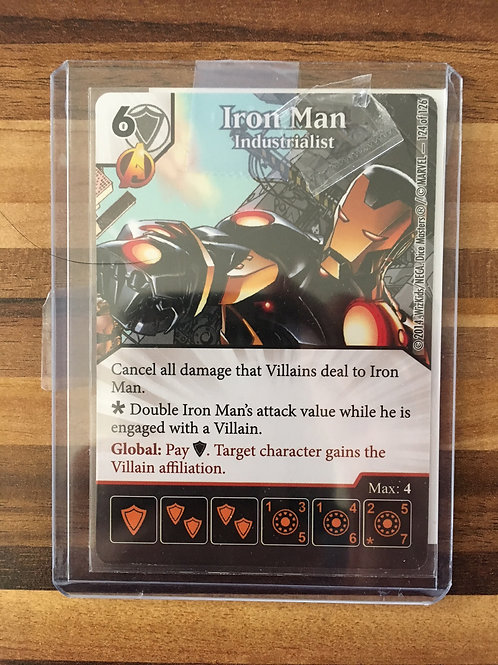 Dice Masters, Uncanny X-Men, Iron Man - Industrialist - Super Rare 124/126