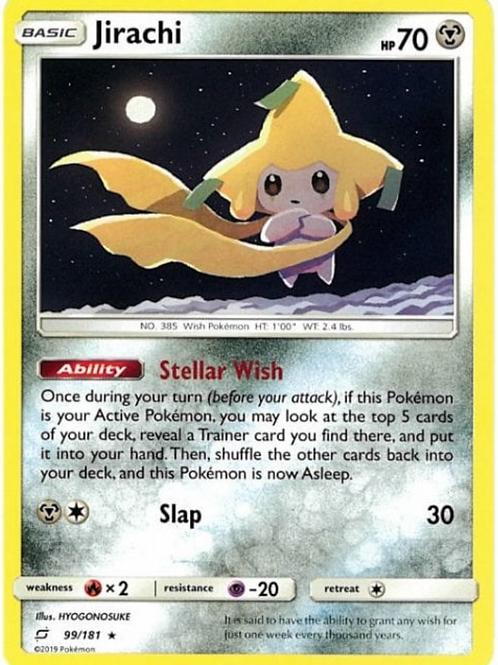 Jirachi 99/181 - SM Team Up - Pokemon