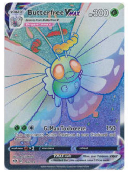 POKEMON DARKNESS ABLAZE #190 Butterfree VMAX (Hyper Rare)