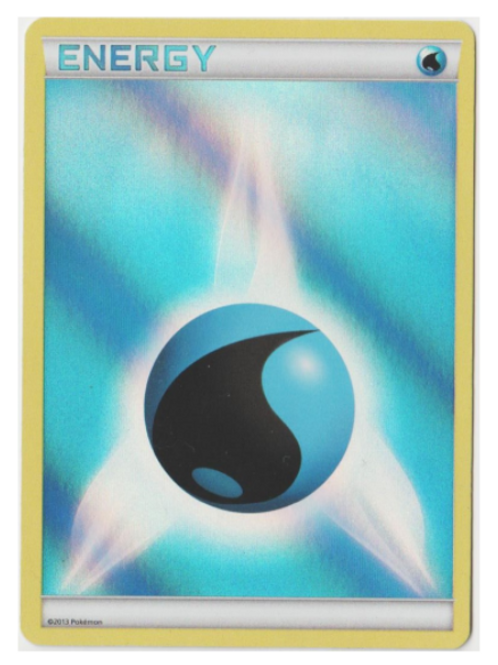 POKEMON Pokemon Water Energy (Clear Holo)