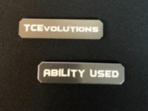 TCEVOLUTIONS Dice - Gun Metal - Aluminium Ability Marker - Set of 2