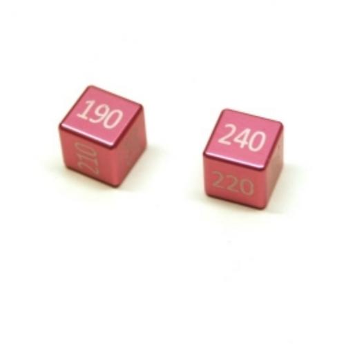 ALUMINIUM MEGA/GX DAMAGE COUNTERS SET (2 PCS) FAIRY PINK