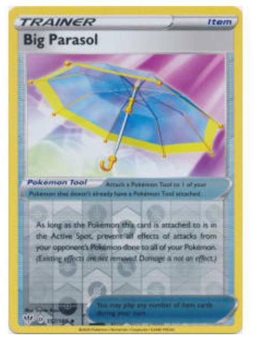 POKEMON DARKNESS ABLAZE #157 Big Parasol (rev holo)