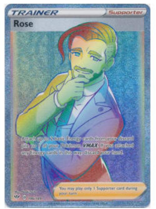 Rose 196/189 - Rainbow Rare - SWSH Darkness Ablaze - Pokemon