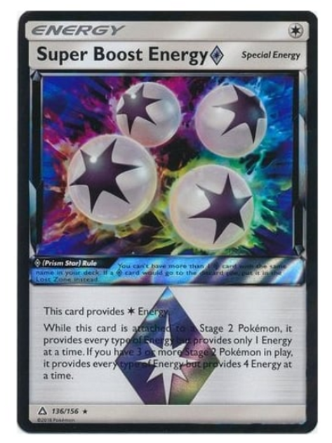 POKEMON SM Ultra Prism 136/156 Super Boost Energy (Prism)