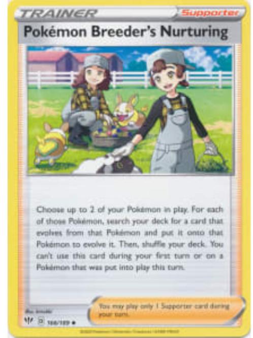 POKEMON DARKNESS ABLAZE #166 Pokemon Breeder's Nurturing