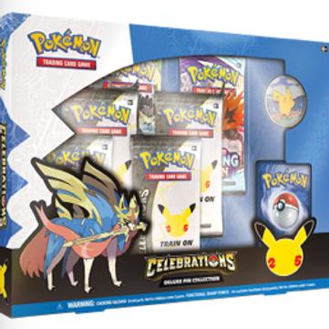 Pokémon Celebrations Zacian Lvl X Deluxe Pin Box