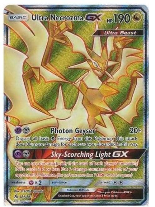POKEMON SM FORBIDDEN LIGHT 127/131 ULTRA NECROZMA GX (FULL ART)