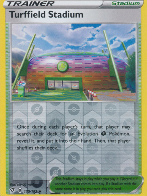 Turffield Stadium 170/192 - Rev Holo - SWSH Rebel Clash - Pokemon