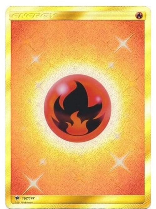 POKEMON SM BURNING SHADOWS 167/147 FIRE ENERGY (SECRET RARE)