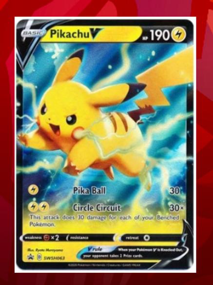 Pikachu V  - SWSH063 - Pokemon TCG Sword & Shield Promo