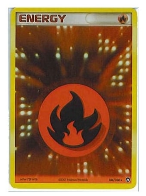 POKEMON EX POWER KEEPERS 104/108 FIRE ENERGY (HOLO)