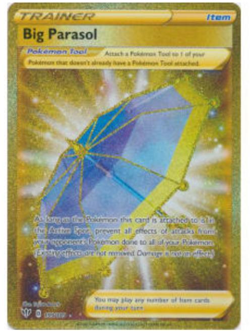 POKEMON DARKNESS ABLAZE #199 Big Parasol  (Hyper Rare)