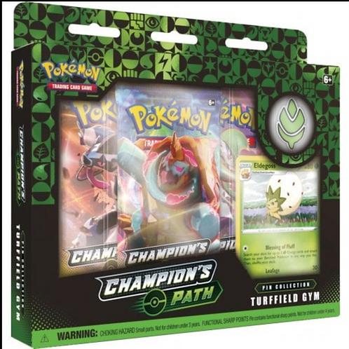Pokemon Champions Path -Turffield Gym Pin collection