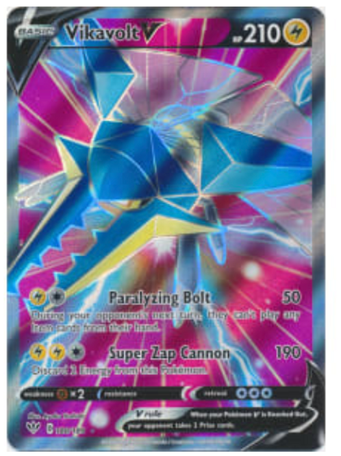 POKEMON DARKNESS ABLAZE #180 Vikavolt V (Full Art)