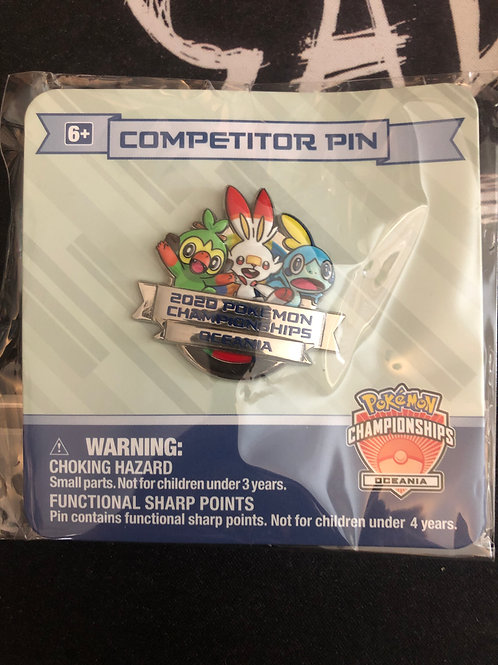 Oceania 2020 Internats competitor pin badge