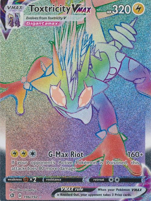 Pokemon SWSH Rebel Clash 196/192  Toxtricity VMAX (Hyper Rare)