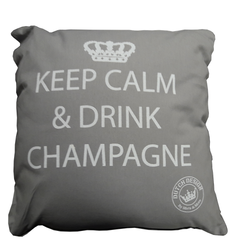 """Coussin """"Keep Calm and Drink Champagne"""""""