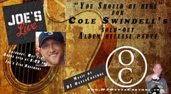 Cole Swindell Flyer