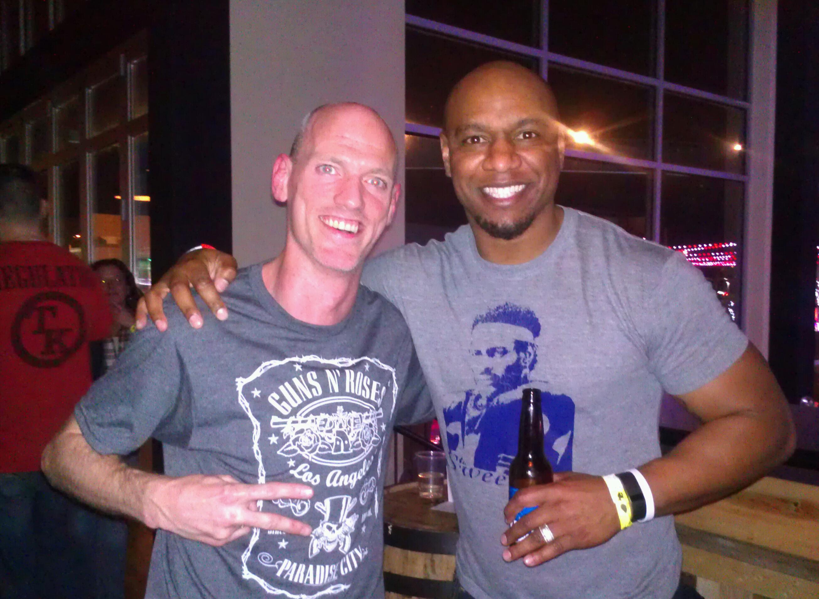 Jarrett Payton & I at TK's