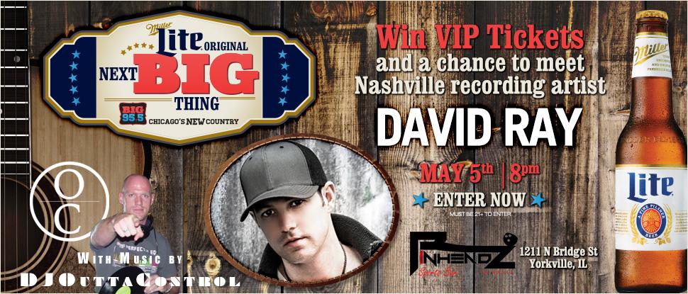 David Ray Big95.5 Flyer