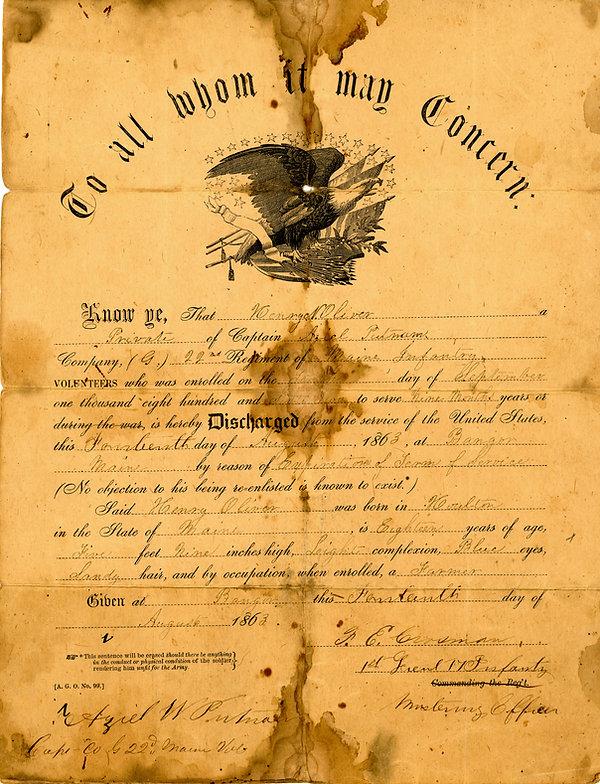 Henry N Oliver discharge 1863 jpg.jpg