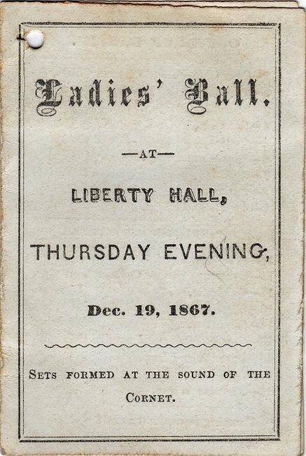 Ladies Ball at Liberty Hall December 19