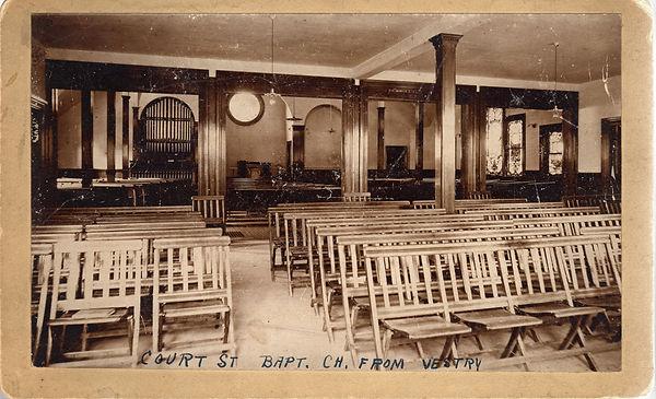 Interior of the Court Street Baptist Chu