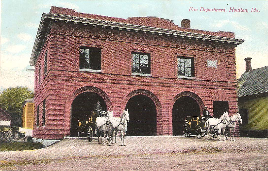 Fire House with Horses