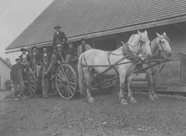 Taber wagon with farm workers, ca 1910.j