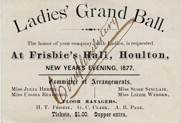 Ladies Grand Ball ticket New Years Eve 1