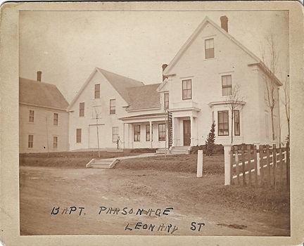 Court Street Baptist Church Pasonage on