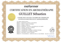 Certificat en aromathérapie - Sébastien Guillet