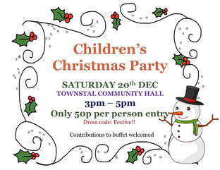 Children's Christmas Party at Townstal Community Hall
