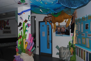 Sea themed display