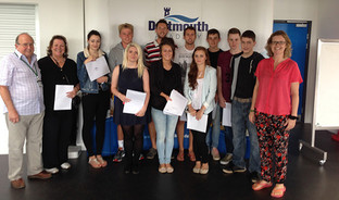 Dartmouth Academy students celebrate some excellent Sixth Form results