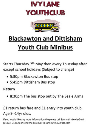 New minibus service for Youth Club