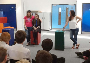 Visiting theatre company give Year 8 students a chance to reflect on future choices