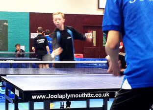 Academy table tennis players up their game!