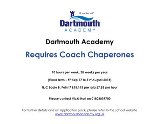 Coach Chaperones required