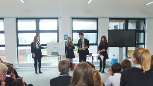 Year 9 students work with visitors from the world of business in Property Challenge