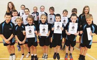 Local schools meet in Dartmouth for Primary Indoor Athletics Festival