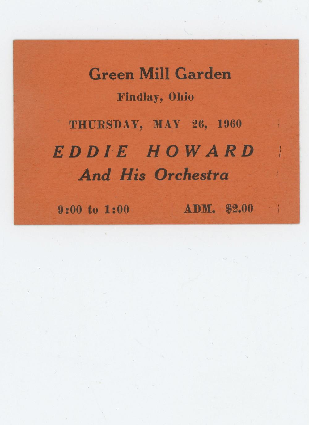 Eddir Howard 1960 Plays Findlay, Ohio