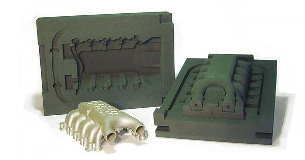 Сборная песчано-полимерная форма, изготовленная аддитивным методом
