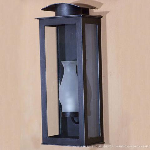 SANTA FE LONG CURVED TOP - HURRICANE GLASS SHADE