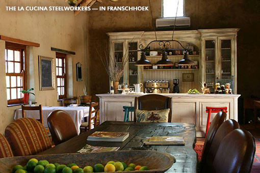 THE LA CUCINA 4 STEELWORKERS IN A BEAUTIFUL KITCHEN