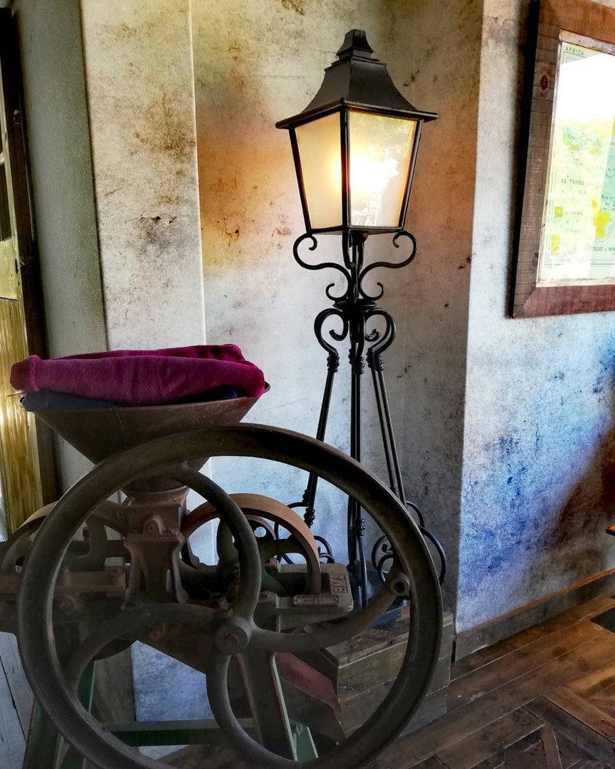 The Ritz lantern is an ideal outdoor light and can be used indoors. Seen here at Hey Joe's brewery in Franschhoek.