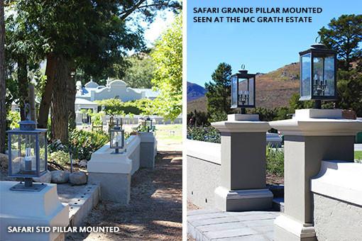 SAFARI GRANDE PILLAR MOUNTED SEEM AT THE MC GRATH ESTATE